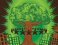 Green Explosion Poster
