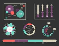 Free Flat Infographic Set vol 3