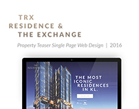 TRX Residence & The Exchange Single page site