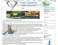 Pools Unlimited Website