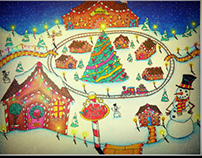 Elf Village in Christmas Town