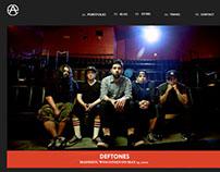 Alex Adama, band photographer website design
