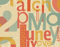Creative Type Calendar for 2010