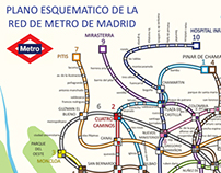 Madrid´s Metro map redesigned