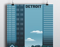 Detroit WPA style poster