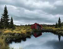 CGI: Lake house