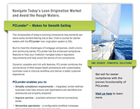 corporate lending technology: B2B email campaign