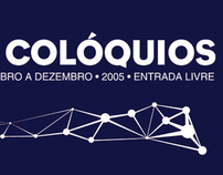 "Cartaz ""Ciclo de Colóquios"""