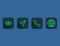 Flat Icons with Shadow