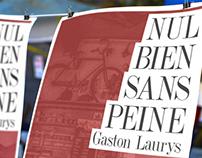 """Plakate für """"Nul bien sans peine"""" von Gaston Laurys"""