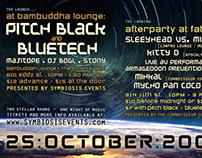 Pitch Black & Bluetech : Event Flyer