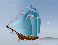 Sea Ship Illustration