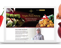 Ecommerce landing page for traditional recipe books