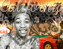 Wiz Khalifa - California Poster Collage
