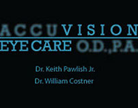 Accuvision Eye Care Banner/Business Cards