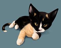 Tia - My Kitten (Painting Practice)