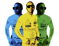 Lewis Hamilton t-shirt design