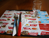 Placemat for restaurant