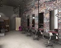 loft hair salon desing