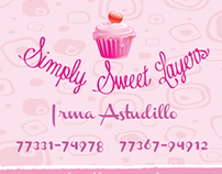 Simply Sweet Layers Cup Cakes / Bussines Card