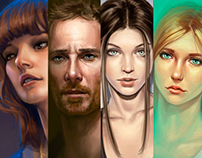 Speed paintings (portraits)