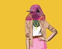 Pink Bird Lady