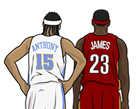 Melo & LeBron 10 Years ago Today