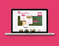 Unique Fashion website redesign