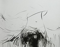 Dance Rain in Ink