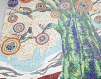 """""""WE"""" 80th Anniversary Mosaic Mural"""