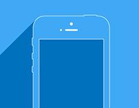 iPhone5s Wireframe Dummy