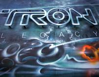 Tron: Legacy Mural - 12/2010