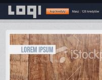 UI, web design for logic puzzle site