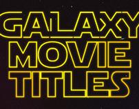 Galaxy Movie Titles