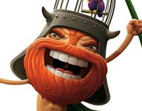 """""""Kahuna"""" mascot & characters"""