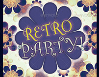 Retro Party Flyer Poster Template