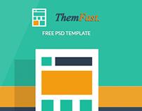 Freebie - ThemFast - Free PSD Template