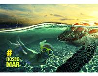 Adesivagem | VLT Santos | Tema: Mar