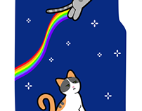 Nyan Cat-inspired iPhone cover