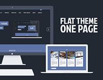 Portfolio Flat Theme One Page