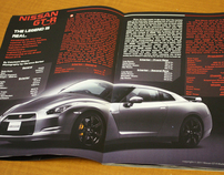 Nissan GT-R Magazine Layout - Cover/2 Page Spread