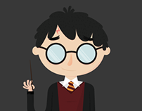 Vector Illustrations - Harry Potter