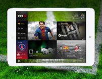 Fifa 14 iPad app redesign