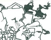 Emek BW Sketch