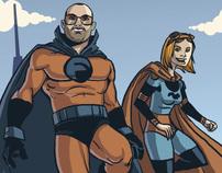 Superhero Commission - Captain Fun and Squirrel Girl
