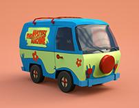 Scooby Doo Van 3D Modelling & Animation