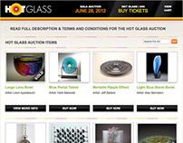 Hot Glass Auction Website