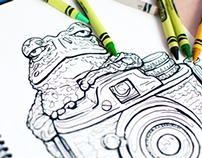 Animal Photographers Coloring Book