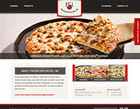 Frozen Specialties Website