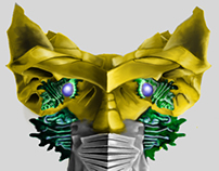 Alien Head Concept Painting